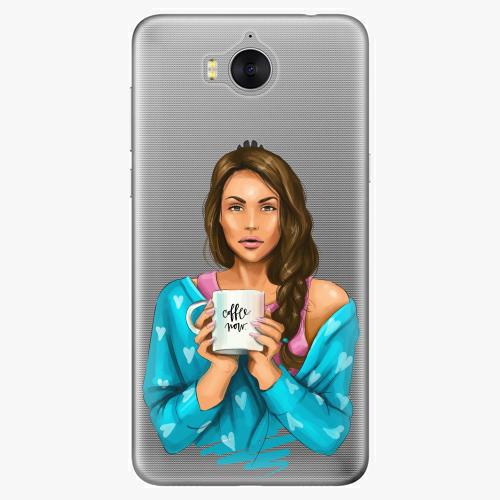 Silikonové pouzdro iSaprio - Coffe Now / Brunette na mobil Huawei Y6 2017