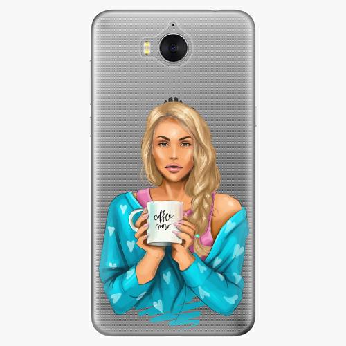 Silikonové pouzdro iSaprio - Coffe Now / Blond na mobil Huawei Y6 2017