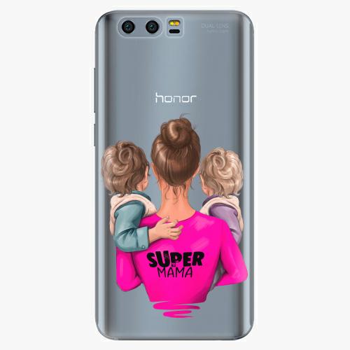 Silikonové pouzdro iSaprio - Super Mama na mobil Two Boys na mobil Honor 9