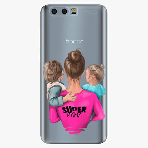 Silikonové pouzdro iSaprio - Super Mama na mobil Boy and Girl na mobil Honor 9