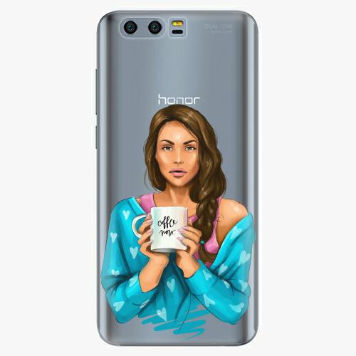 Silikonové pouzdro iSaprio - Coffe Now / Brunette na mobil Honor 9