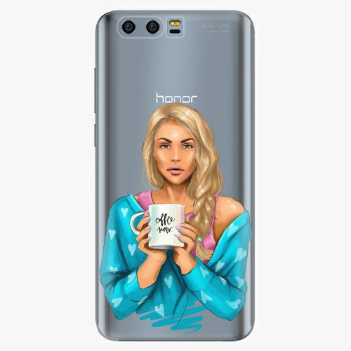 Silikonové pouzdro iSaprio - Coffe Now / Blond na mobil Honor 9