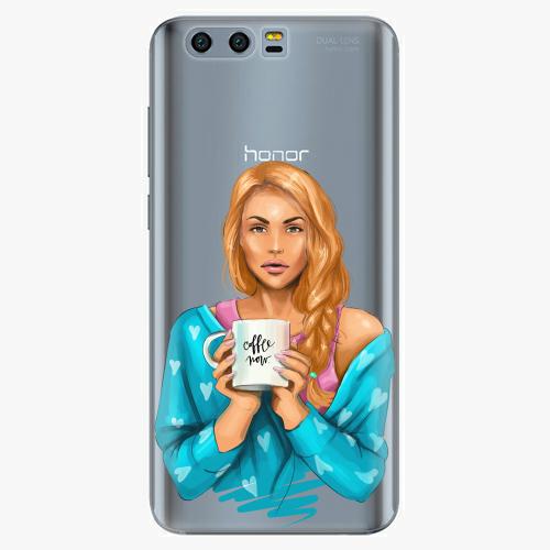 Silikonové pouzdro iSaprio - Coffe Now / Redhead na mobil Honor 9