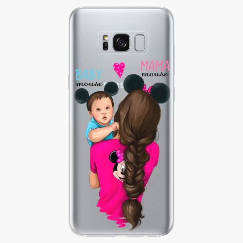 Silikonové pouzdro iSaprio - Mama Mouse Brunette and Boy na mobil Samsung Galaxy S8