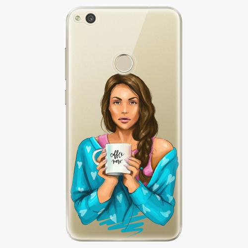 Silikonové pouzdro iSaprio - Coffe Now / Brunette na mobil Huawei P9 Lite 2017