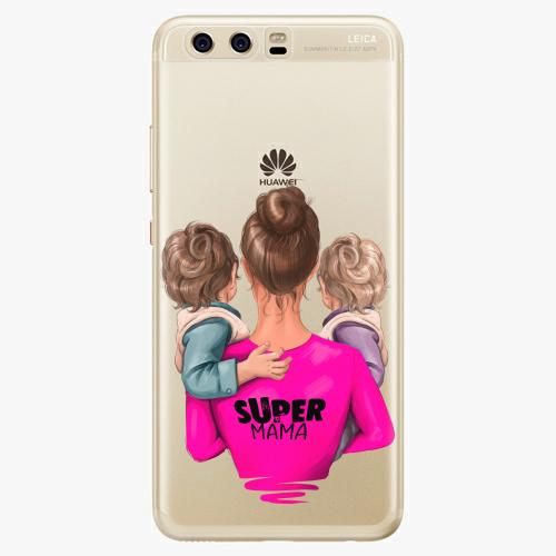 Silikonové pouzdro iSaprio - Super Mama na mobil Two Boys na mobil Huawei P10