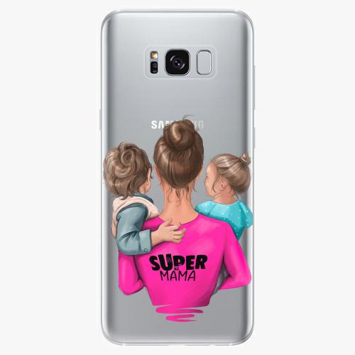 Silikonové pouzdro iSaprio - Super Mama na mobil Boy and Girl na mobil Samsung Galaxy S8