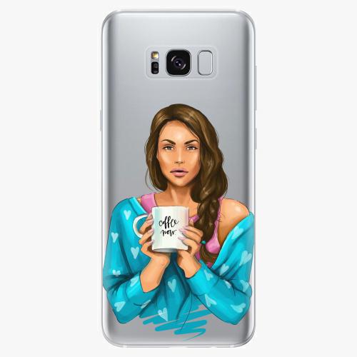 Silikonové pouzdro iSaprio - Coffe Now / Brunette na mobil Samsung Galaxy S8