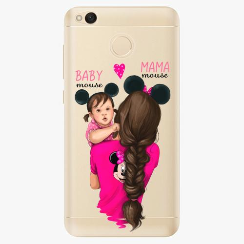 Silikonové pouzdro iSaprio - Mama Mouse Brunette and Girl na mobil Xiaomi Redmi 4X