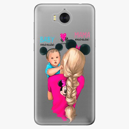 Silikonové pouzdro iSaprio - Mama Mouse Blonde and Boy na mobil Huawei Y6 2017