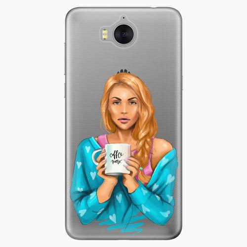 Silikonové pouzdro iSaprio - Coffe Now / Redhead na mobil Huawei Y6 2017