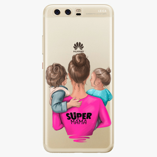 Silikonové pouzdro iSaprio - Super Mama na mobil Boy and Girl na mobil Huawei P10