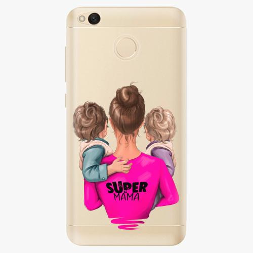 Silikonové pouzdro iSaprio - Super Mama na mobil Two Boys na mobil Xiaomi Redmi 4X