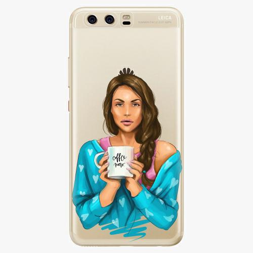 Silikonové pouzdro iSaprio - Coffe Now / Brunette na mobil Huawei P10
