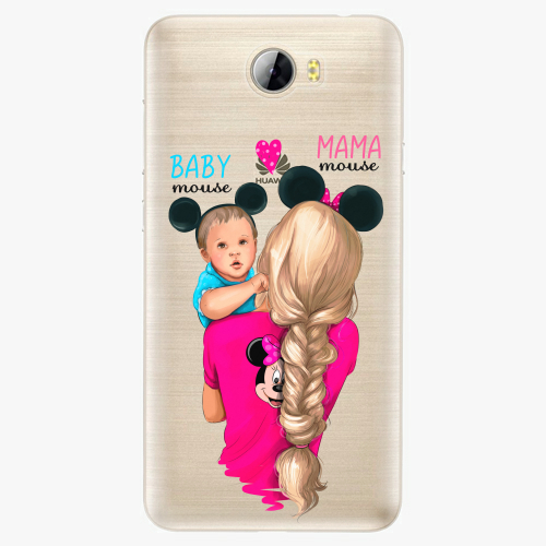 Silikonové pouzdro iSaprio - Mama Mouse Blonde and Boy na mobil Huawei Y5 II / Y6 II Compact