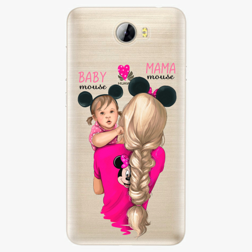Silikonové pouzdro iSaprio - Mama Mouse Blond and Girl na mobil Huawei Y5 II / Y6 II Compact
