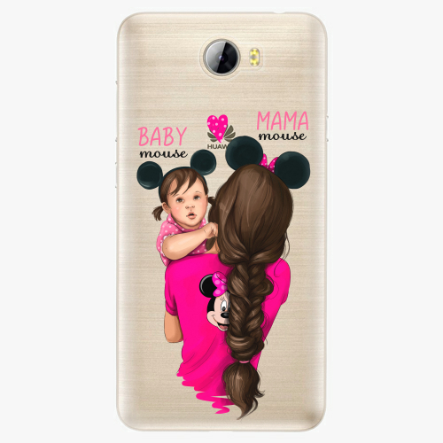 Silikonové pouzdro iSaprio - Mama Mouse Brunette and Girl na mobil Huawei Y5 II / Y6 II Compact