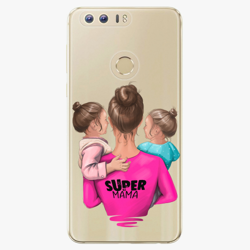 Silikonové pouzdro iSaprio - Super Mama na mobil Two Girls na mobil Honor 8