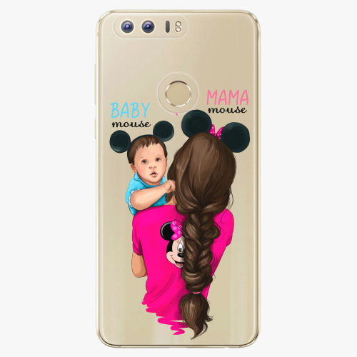 Silikonové pouzdro iSaprio - Mama Mouse Brunette and Boy na mobil Honor 8