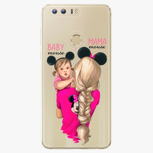 Silikonové pouzdro iSaprio - Mama Mouse Blond and Girl na mobil Honor 8