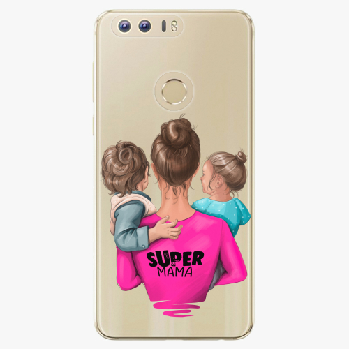 Silikonové pouzdro iSaprio - Super Mama na mobil Boy and Girl na mobil Honor 8
