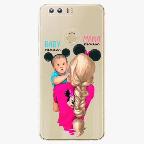 Silikonové pouzdro iSaprio - Mama Mouse Blonde and Boy na mobil Honor 8