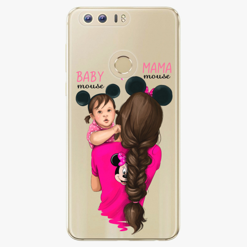 Silikonové pouzdro iSaprio - Mama Mouse Brunette and Girl na mobil Honor 8