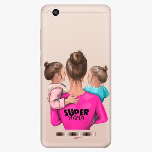Silikonové pouzdro iSaprio - Super Mama na mobil Two Girls na mobil Xiaomi Redmi 4A