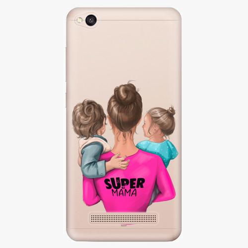 Silikonové pouzdro iSaprio - Super Mama na mobil Boy and Girl na mobil Xiaomi Redmi 4A