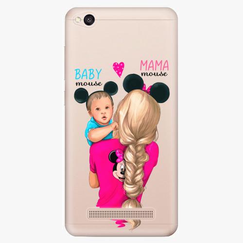 Silikonové pouzdro iSaprio - Mama Mouse Blonde and Boy na mobil Xiaomi Redmi 4A