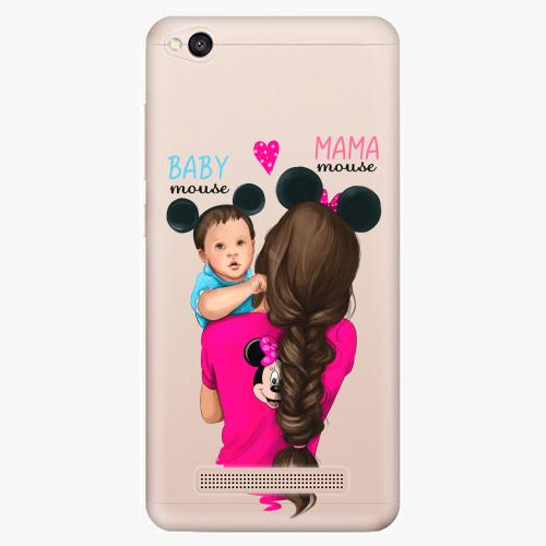 Silikonové pouzdro iSaprio - Mama Mouse Brunette and Boy na mobil Xiaomi Redmi 4A