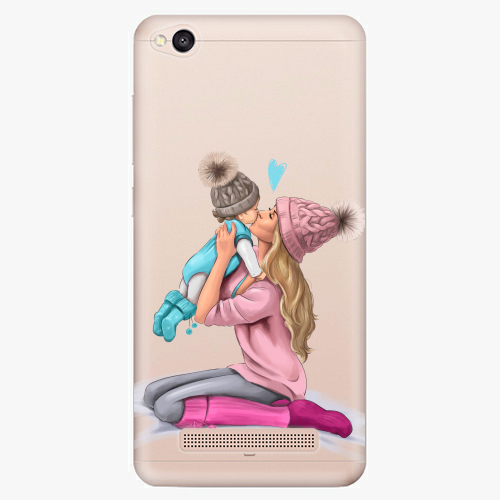 Silikonové pouzdro iSaprio - Kissing Mom / Blond and Boy na mobil Xiaomi Redmi 4A