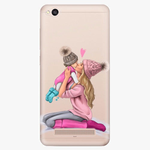 Silikonové pouzdro iSaprio - Kissing Mom / Blond and Girl na mobil Xiaomi Redmi 4A