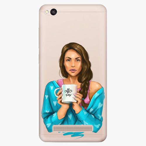 Silikonové pouzdro iSaprio - Coffe Now / Brunette na mobil Xiaomi Redmi 4A