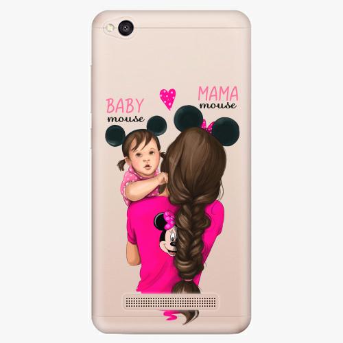 Silikonové pouzdro iSaprio - Mama Mouse Brunette and Girl na mobil Xiaomi Redmi 4A