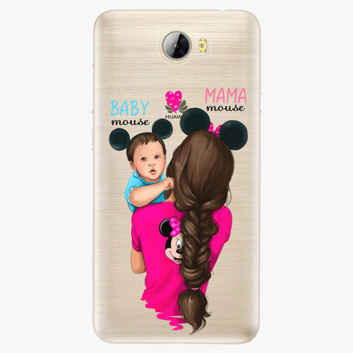 Silikonové pouzdro iSaprio - Mama Mouse Brunette and Boy na mobil Huawei Y5 II / Y6 II Compact