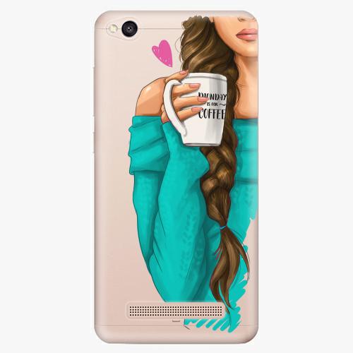 Silikonové pouzdro iSaprio - My Coffe and Brunette Girl na mobil Xiaomi Redmi 4A
