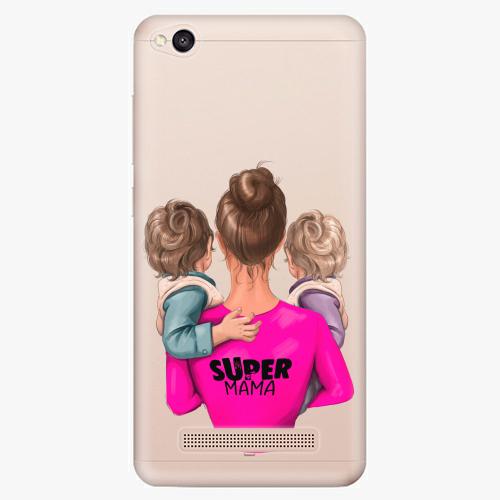 Silikonové pouzdro iSaprio - Super Mama na mobil Two Boys na mobil Xiaomi Redmi 4A