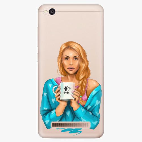 Silikonové pouzdro iSaprio - Coffe Now / Redhead na mobil Xiaomi Redmi 4A