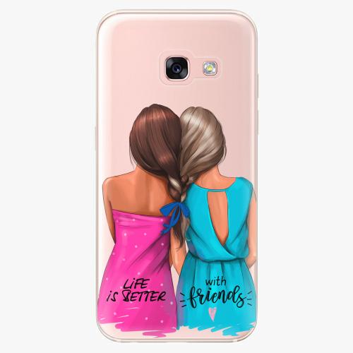 Silikonové pouzdro iSaprio - Best Friends na mobil Samsung Galaxy A3 2017