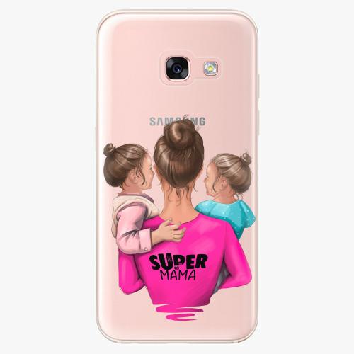Silikonové pouzdro iSaprio - Super Mama na mobil Two Girls na mobil Samsung Galaxy A3 2017