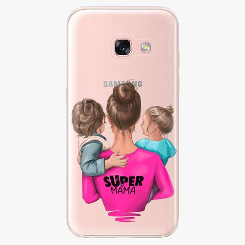 Silikonové pouzdro iSaprio - Super Mama na mobil Boy and Girl na mobil Samsung Galaxy A3 2017