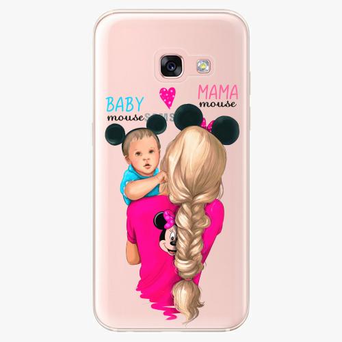 Silikonové pouzdro iSaprio - Mama Mouse Blonde and Boy na mobil Samsung Galaxy A3 2017