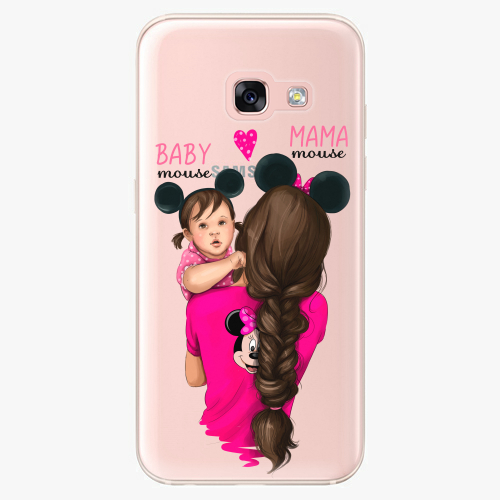 Silikonové pouzdro iSaprio - Mama Mouse Brunette and Girl na mobil Samsung Galaxy A3 2017