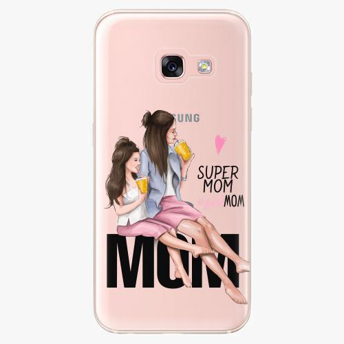 Silikonové pouzdro iSaprio - Milk Shake / Brunette na mobil Samsung Galaxy A3 2017