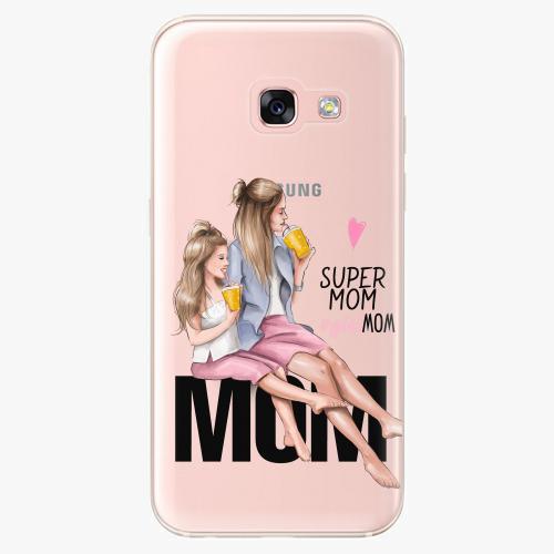 Silikonové pouzdro iSaprio - Milk Shake / Blond na mobil Samsung Galaxy A3 2017