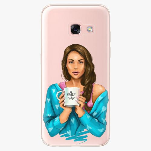Silikonové pouzdro iSaprio - Coffe Now / Brunette na mobil Samsung Galaxy A3 2017
