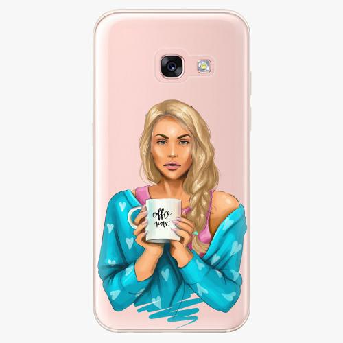Silikonové pouzdro iSaprio - Coffe Now / Blond na mobil Samsung Galaxy A3 2017