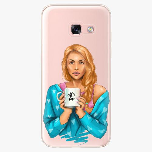 Silikonové pouzdro iSaprio - Coffe Now / Redhead na mobil Samsung Galaxy A3 2017