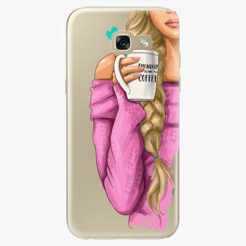 Silikonové pouzdro iSaprio - My Coffe and Blond Girl na mobil Samsung Galaxy A5 2017